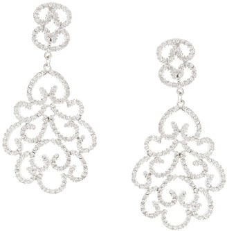 Kenneth Jay Lane Pave Filigree earrings