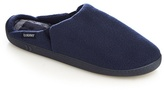 Totes Navy Fleece Lined 'pillowstep' Mule Slippers