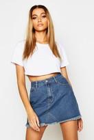 Thumbnail for your product : boohoo High Waisted Micro Denim Mini Skirt