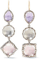 Larkspur & Hawk - Sadie Rhodium-dipped Quartz Earrings - Silver
