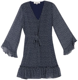 Diane von Furstenberg Harlene Bell Sleeve Mini Dress
