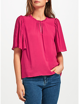 Velvet by Graham & Spencer Yelena Ruffle Neck Top