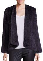 H Brand Emily Knitted Rabbit Fur Coat