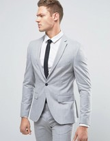 Selected Homme Super Skinny Suit Jacket In Light Grey