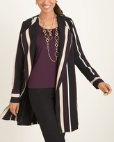 Chico's Chicos Striped Duster Jacket