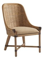 Tommy Bahama Los Altos Keeling Woven Linen Upholstered Dining Chair Home Upholstery Color: Golden Maize