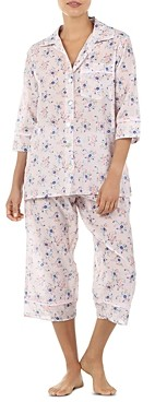 Papinelle Iggy Floral Print Cropped Pajama Set