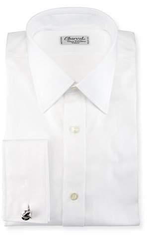 Charvet Herringbone French-Cuff Dress Shirt