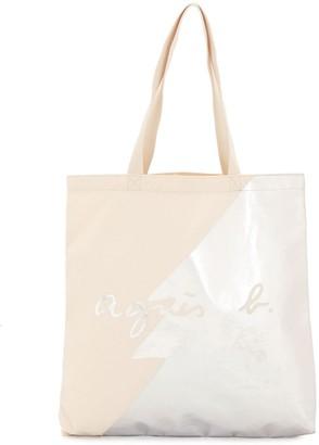 agnès b. Tree Print Cotton Tote Bag