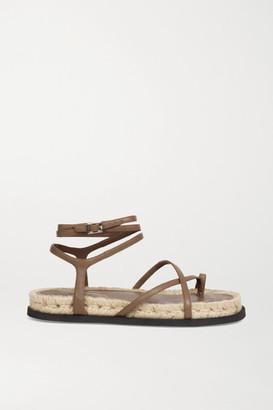 3.1 Phillip Lim Yasmine Leather Espadrille Sandals - Brown