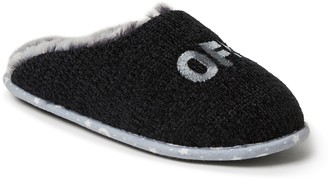Dearfoams Novelty Chenille Scuff Slippers with Scrunchie