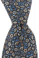Murano Flower Pot Narrow Silk Tie