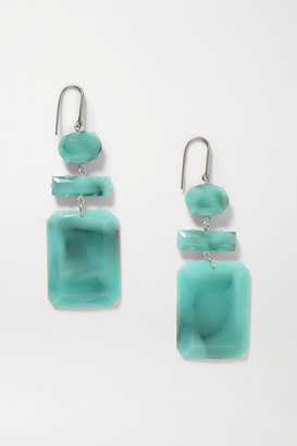 Isabel Marant Silver-tone And Resin Earrings - Jade