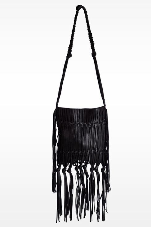 Linea Pelle Daisy Crossbody Bag in Black