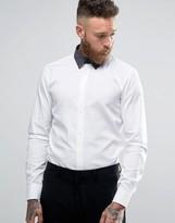 HUGO BOSS HUGO by Smart Shirt In White Slim Fit Print Collar