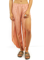 Free People Rosemary Slit Pants in Pink Combo