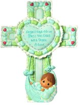 Precious Moments Precious Moments, Precious Little Blessings, Boy, Resin Cross with Stand, 102411
