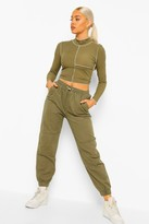 Thumbnail for your product : boohoo Seam Cuff Denim Joggers