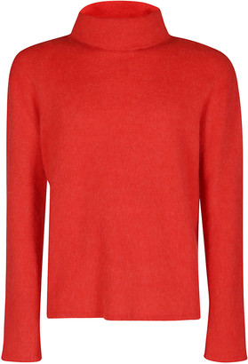Lanvin Red Alpaca-cashmere-silk Blend Jumper