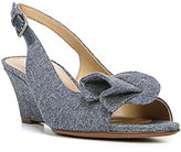 Naturalizer Tinna Chambray Slingback Peep-Toe Wedges