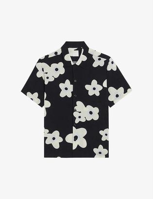 Sandro Bloom regular-fit floral-print woven shirt