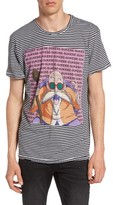 Eleven Paris Men's Elevenparis Dratue - Dragonball Stripe Graphic T-Shirt