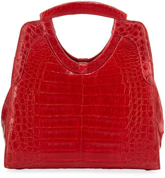 Nancy Gonzalez Small Keyhole Crocodile Top-Handle Bag