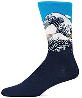 Hot Sox Men's Great Wave Crew Sock