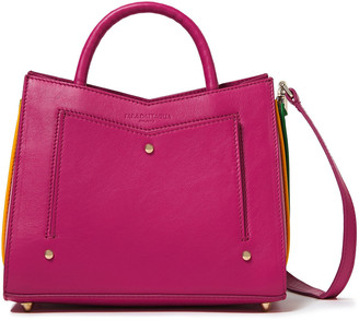 Sara Battaglia Plisse Color-block Leather Tote