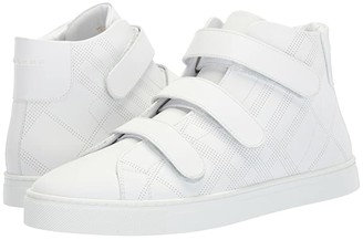 Burberry Sturrock Mid Top Sneaker (Optic White) Men's Shoes