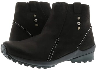 Wolky Zion (Black Nepal Oiled Leather) Women's Shoes
