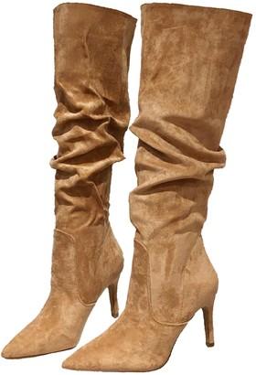 Camel Colored Suede Boots Women | Shop