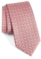 Salvatore Ferragamo Men's Elephant Print Silk Tie
