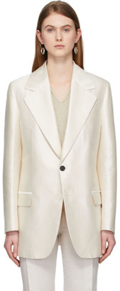 Acne Studios White Single-Breasted Blazer