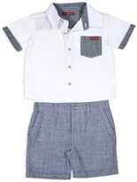 7 For All Mankind Boys' Button Down Shirt & Shorts