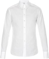 Alexander McQueen Raw-edge single-cuff cotton-poplin shirt