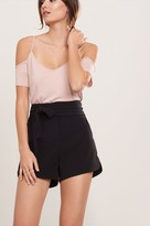 Dynamite Dressy Short With Wrap Belt