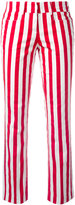 Dondup vertical stripe trousers