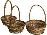 Waldimports Wald Imports Brown Bamboo & Raffia Decorative Storage Basket, Set of