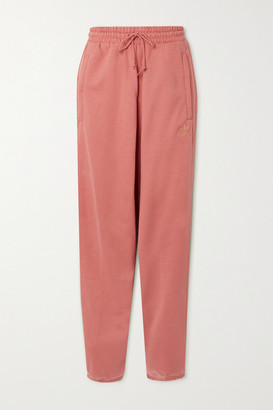 adidas Metallic-striped French Cotton-terry Track Pants - Pink