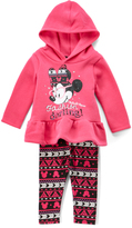 Children's Apparel Network Minnie Mouse 'Fashion' Ruffle Hoodie & Heart Leggings - Infant