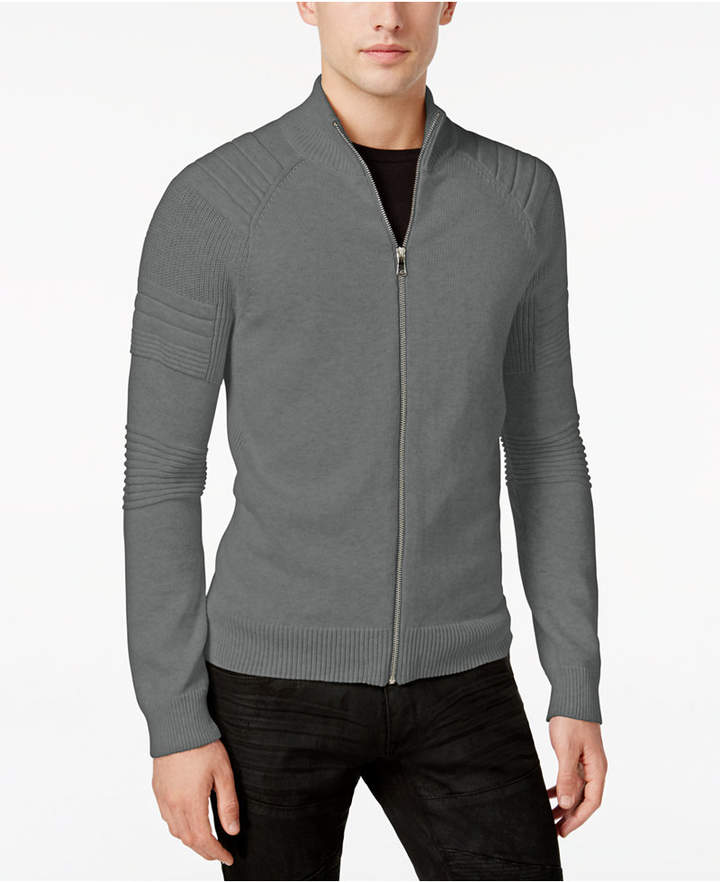 INC International Concepts I.N.C. Men's In the Dark Full-Zip Sweater, Created for Macy's