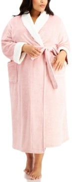 Charter Club Plus Size Long Cozy Robe, Created for Macy's