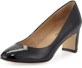 Neiman Marcus Zora Patent Leather Pump, Black