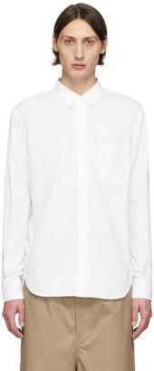 Comme des Garçons Homme White Broadcloth Shirt
