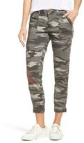 Women's Wit & Wisdom Embroidered Camo Utility Joggers