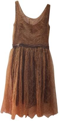 Anna Molinari Gold Silk Dress for Women