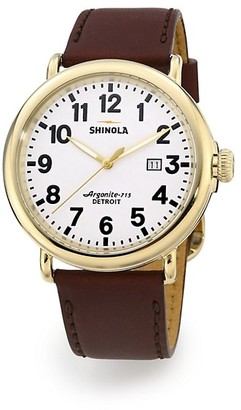 Shinola Runwell Goldtone Stainless Steel Watch