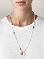 Jade Jagger Rose quartz, ruby and pearl necklace