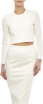 Blaque Label White Long Sleeve Crop Top